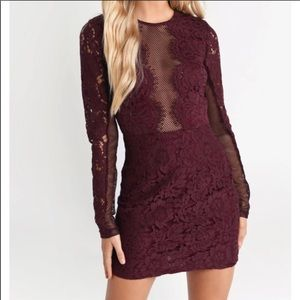 Raven lace bodycon dress